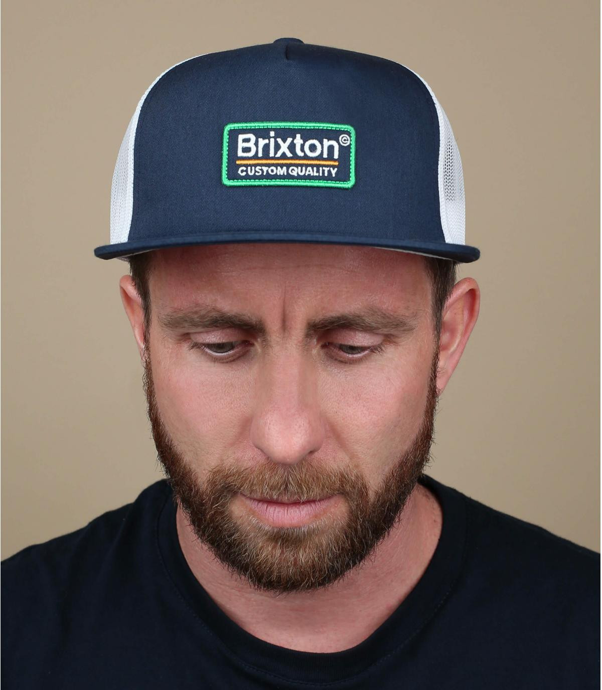 navy blue Brixton trucker
