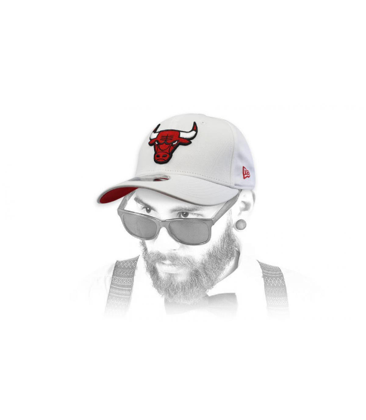 white Bulls cap