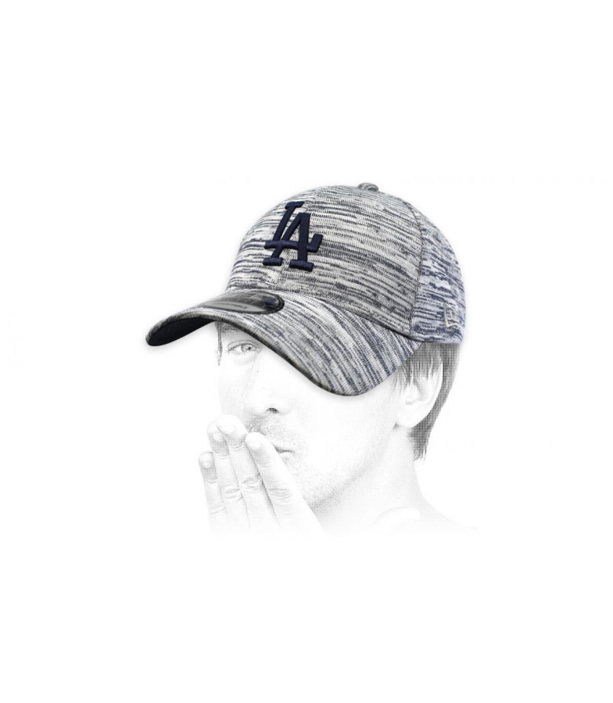 heather blue LA cap
