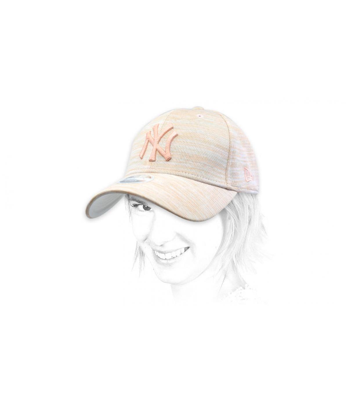 NY pink cap