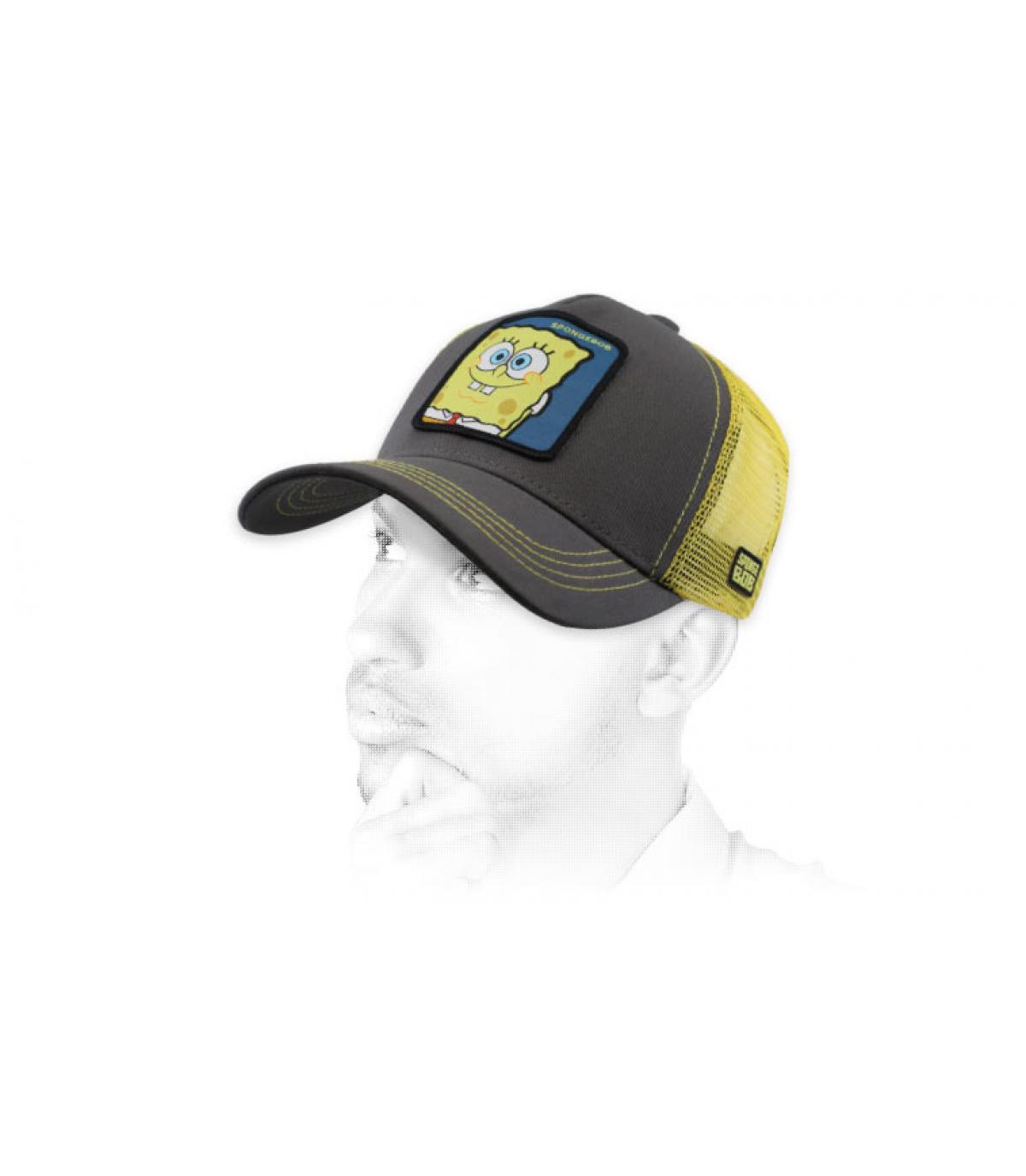 grey Sponge Bob trucker
