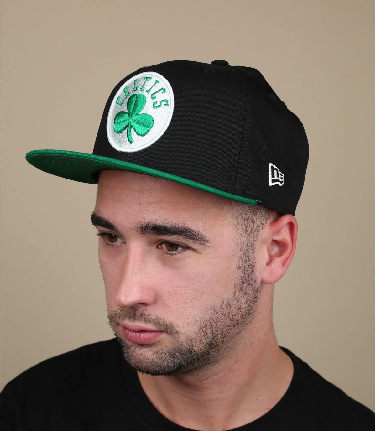 black green Celtics cap