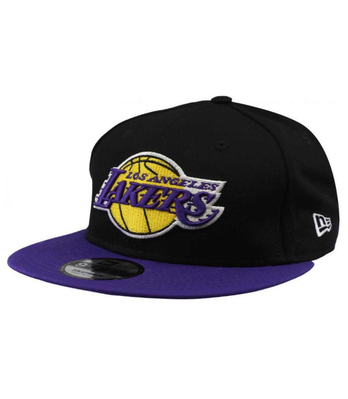 black purple Lakers snapback