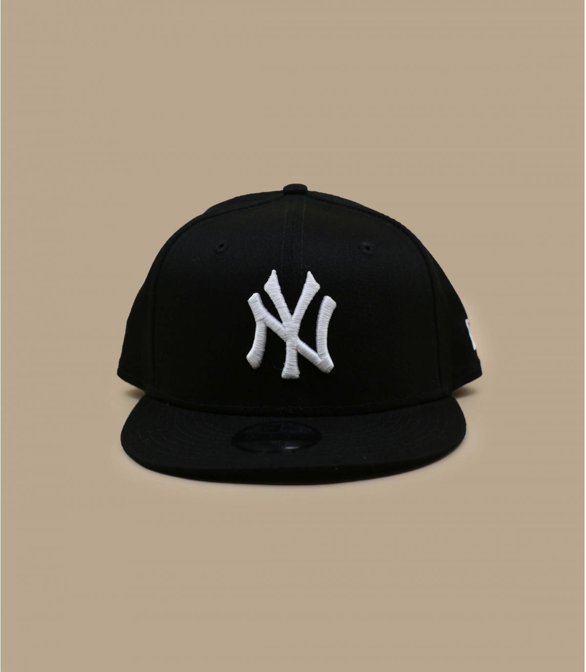 black and white NY child cap