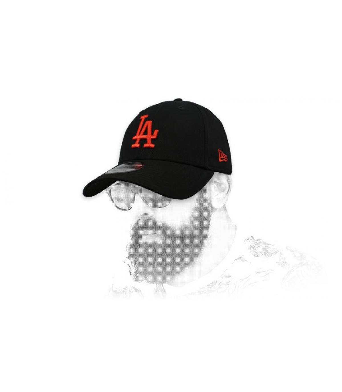 black red LA cap