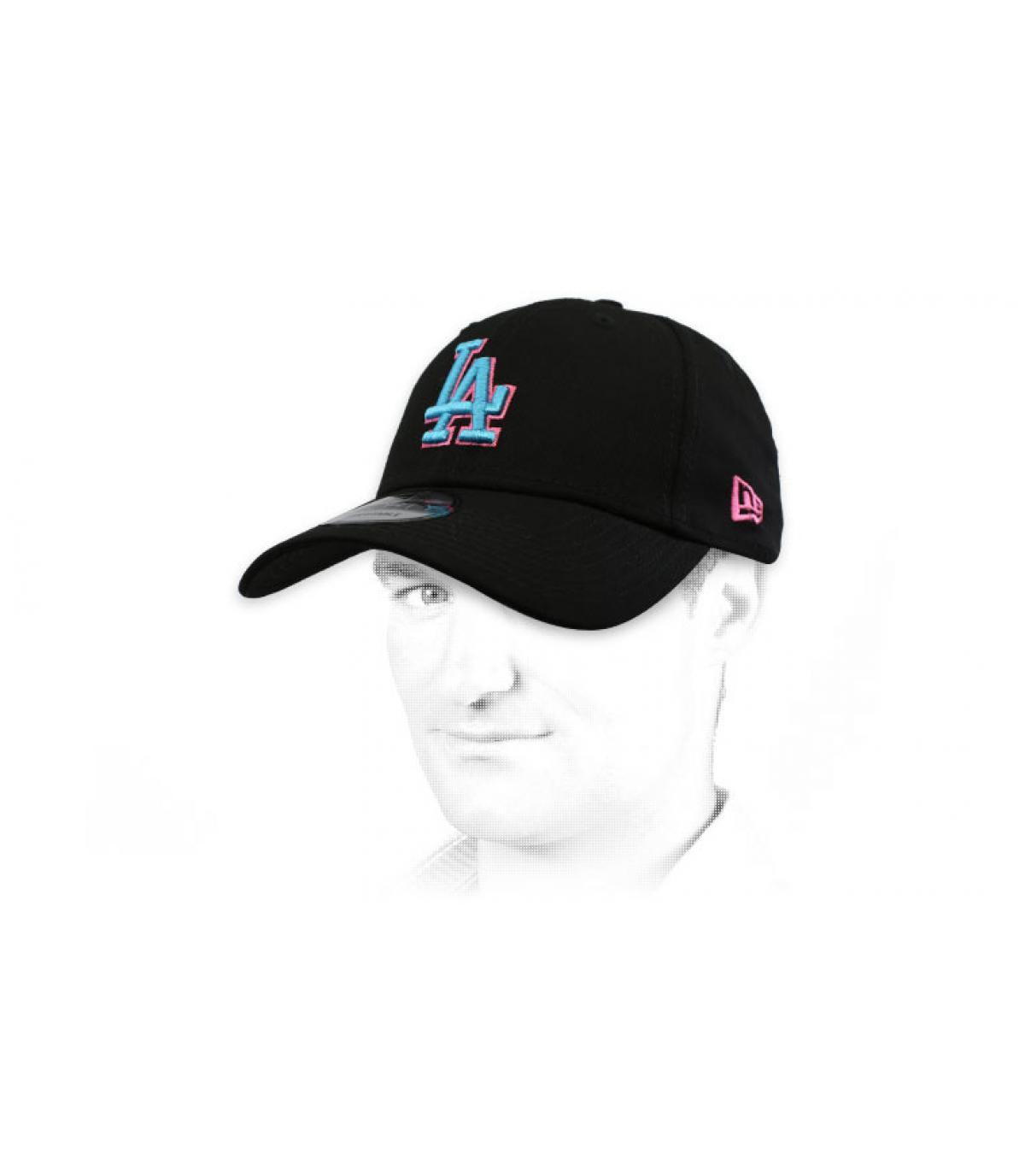 black blue LA cap