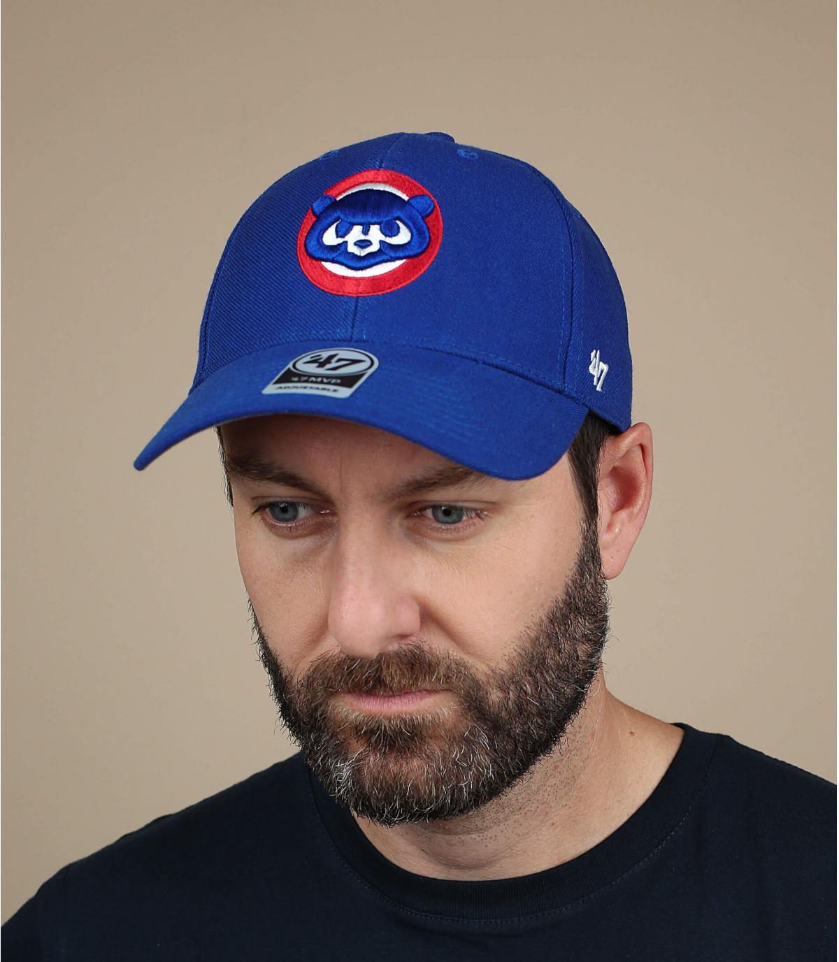 blue vintage Cubs cap