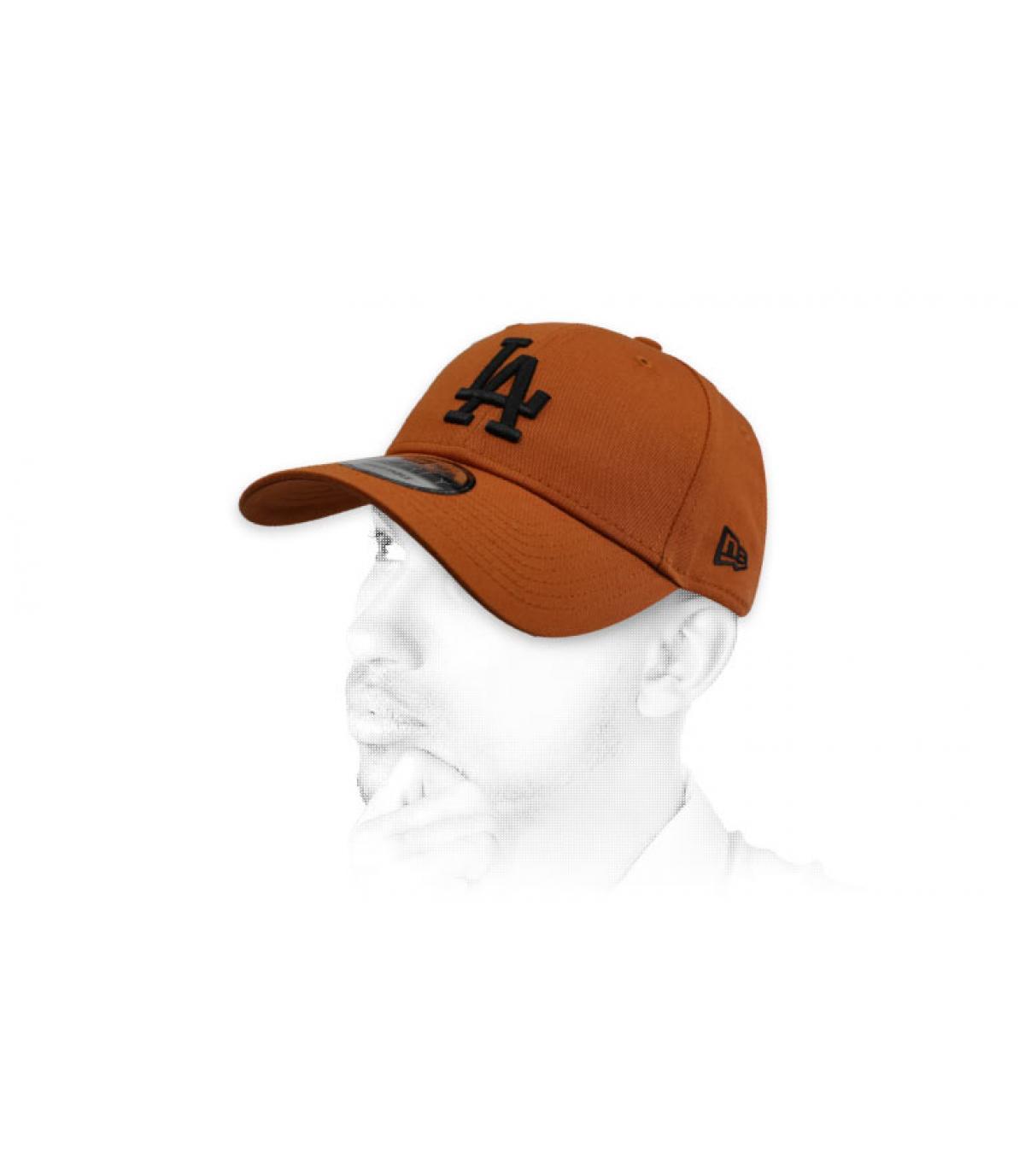 black brown LA cap