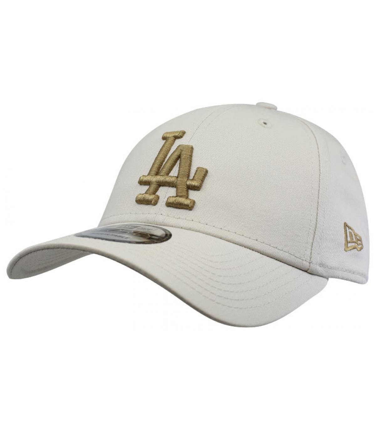 LA white beige cap