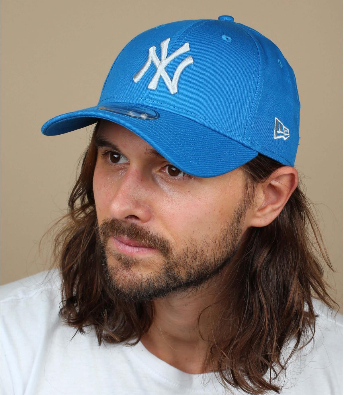 blue grey NY cap