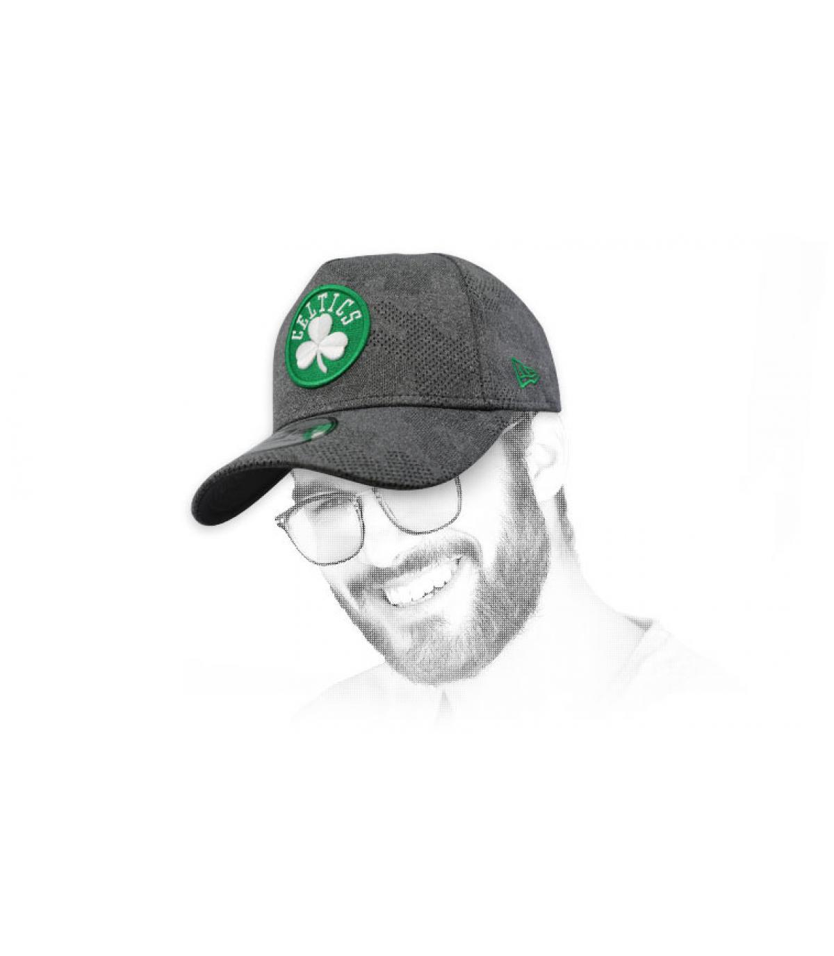 grey Celtics cap