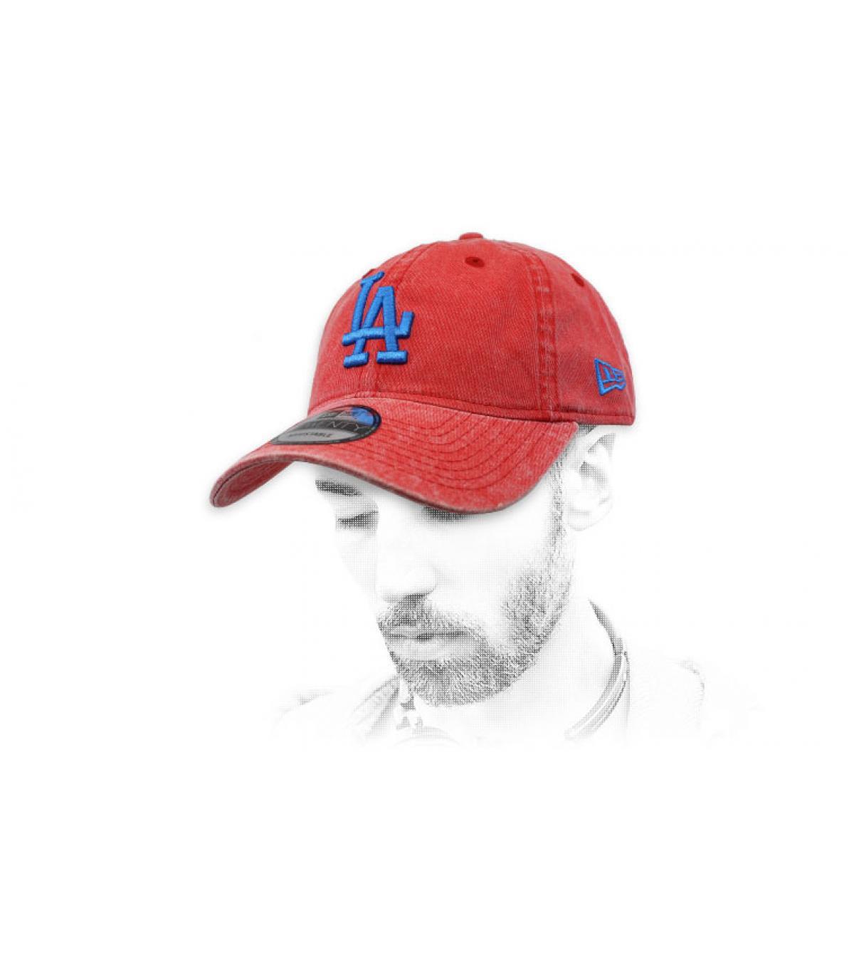 LA cap red blue