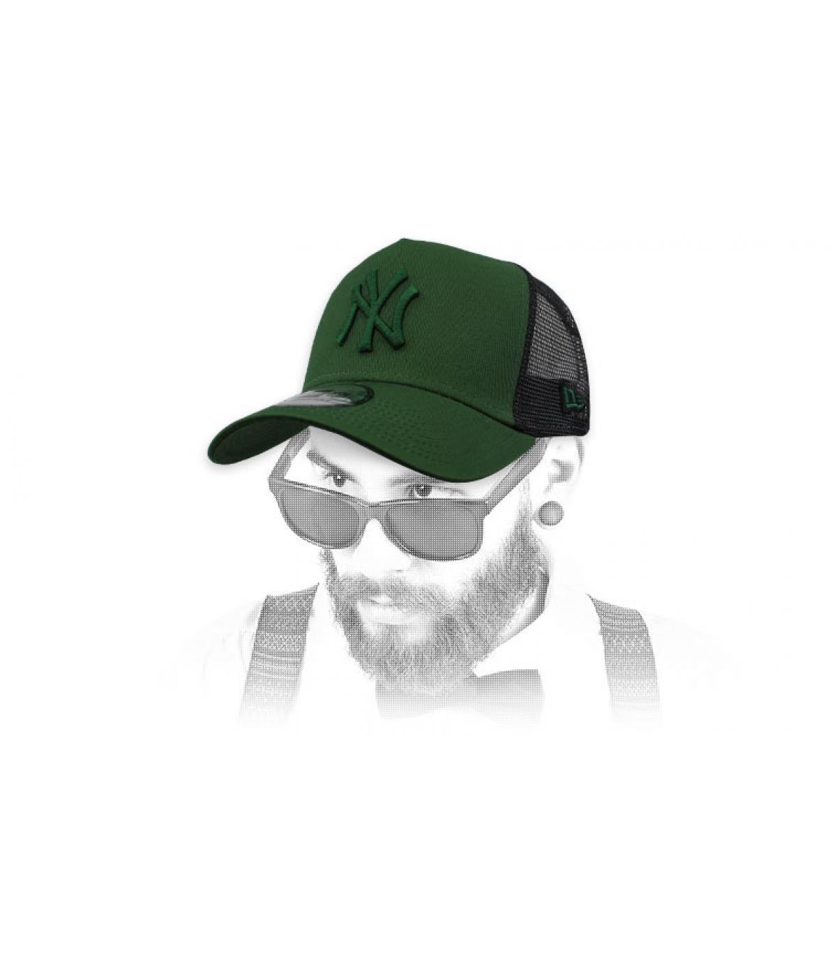 black green NY trucker