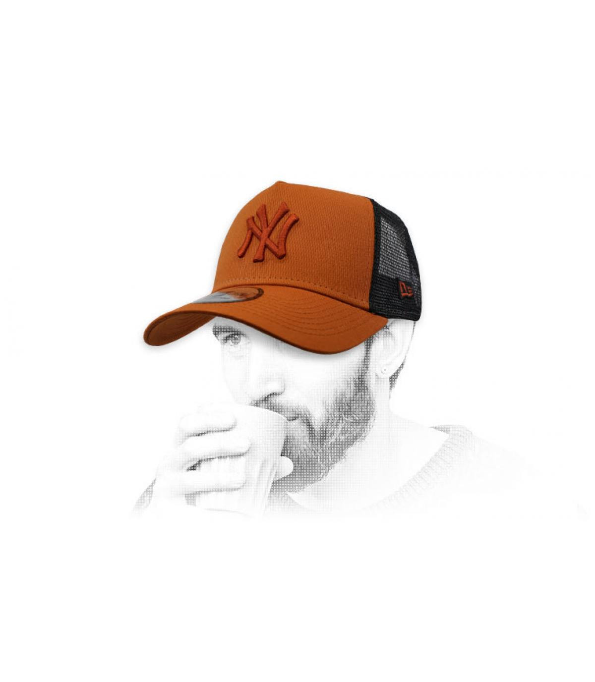 black brown NY trucker