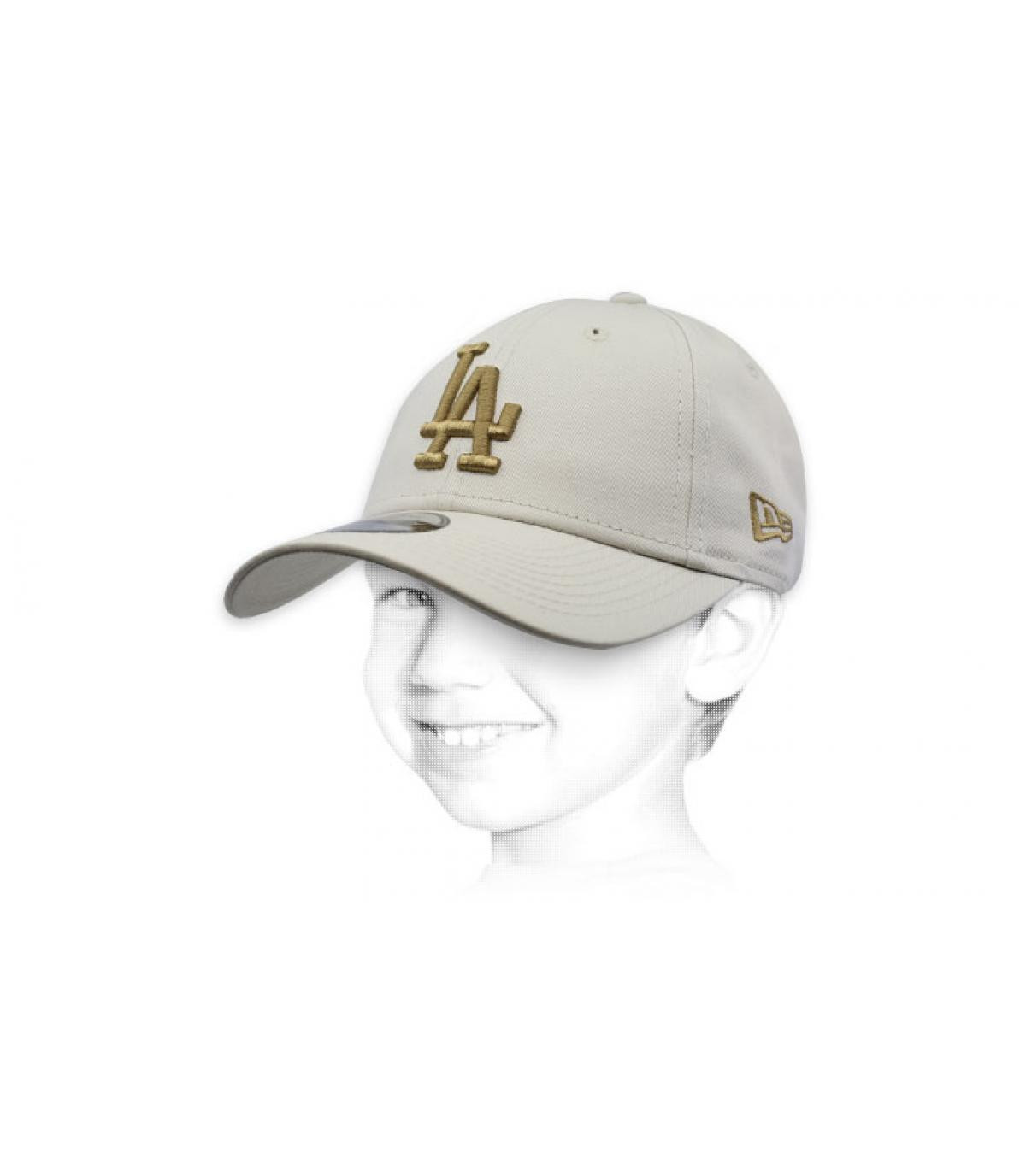 beige LA child cap