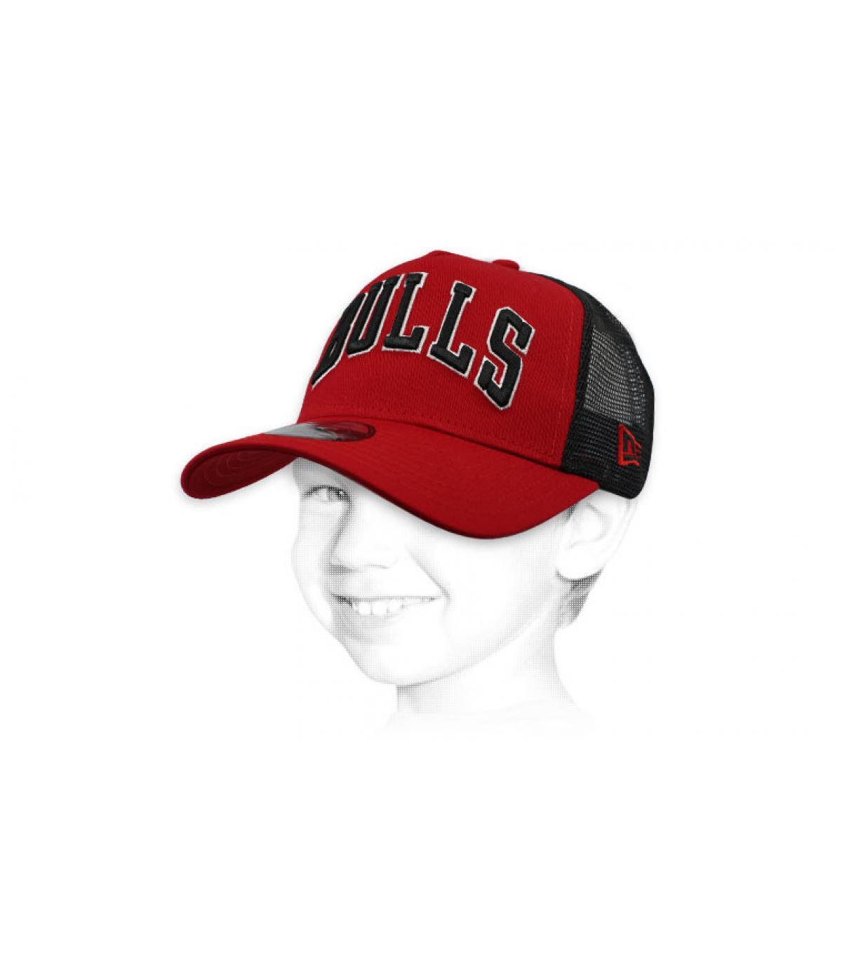 Bulls red kids trucker cap