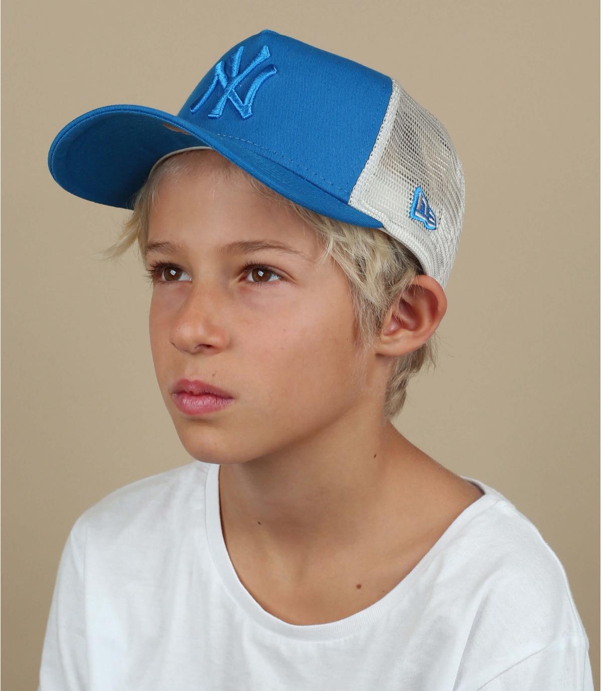 blue NY trucker kids