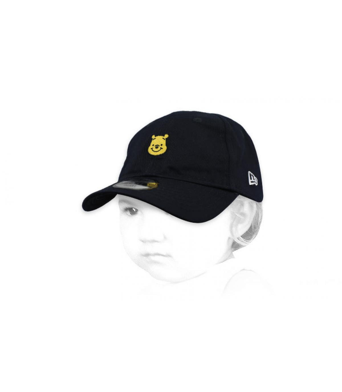 black Winnie the Pooh baby cap