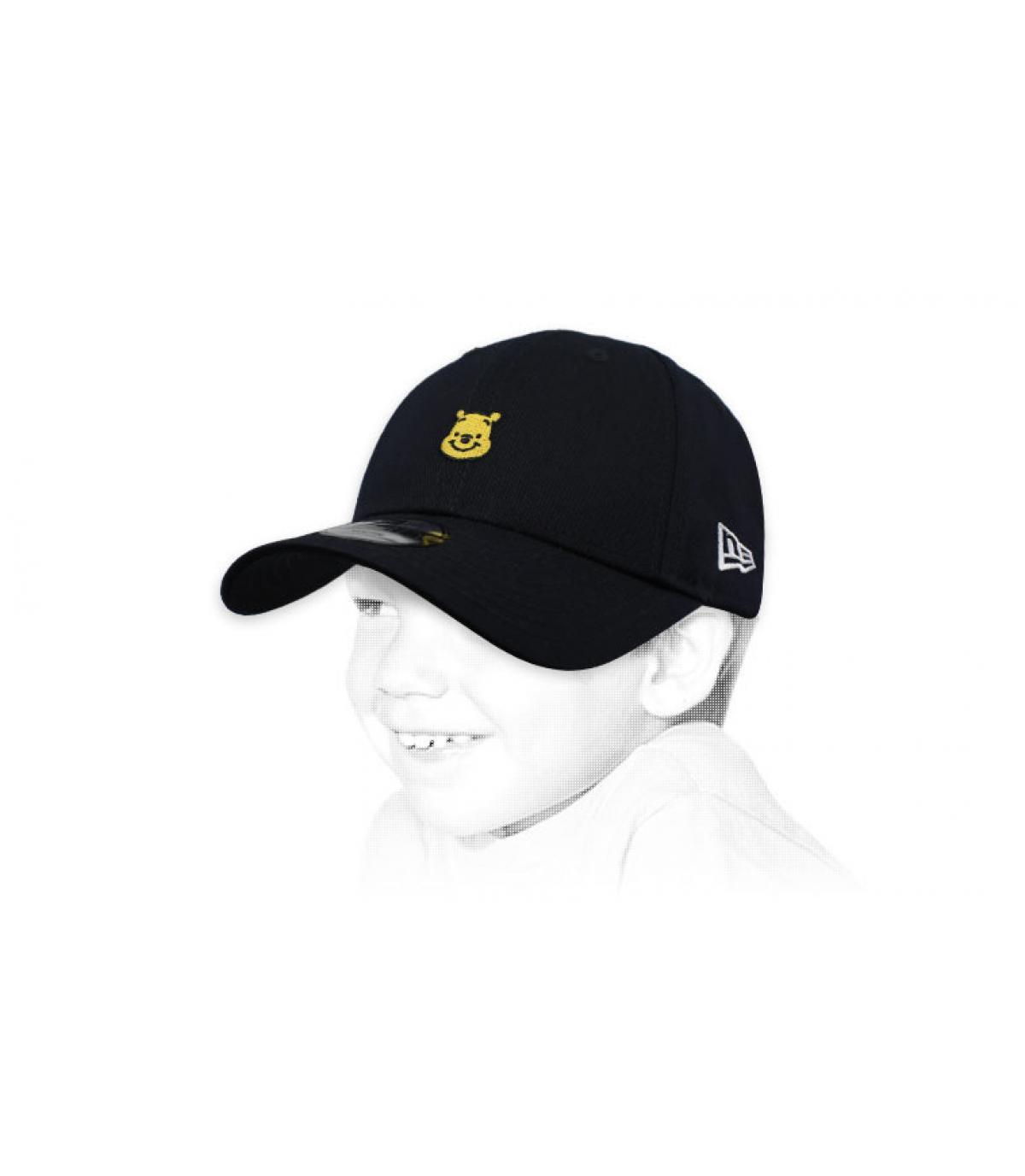 black Winnie the Pooh kids cap