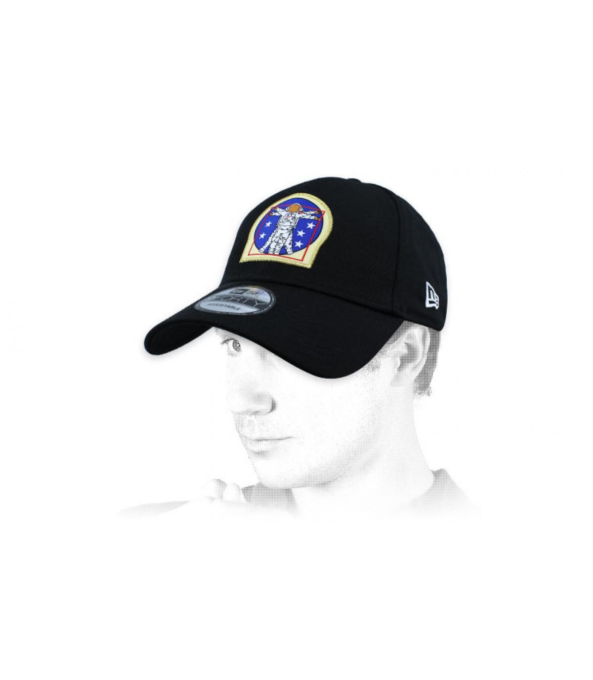 black astronaut cap