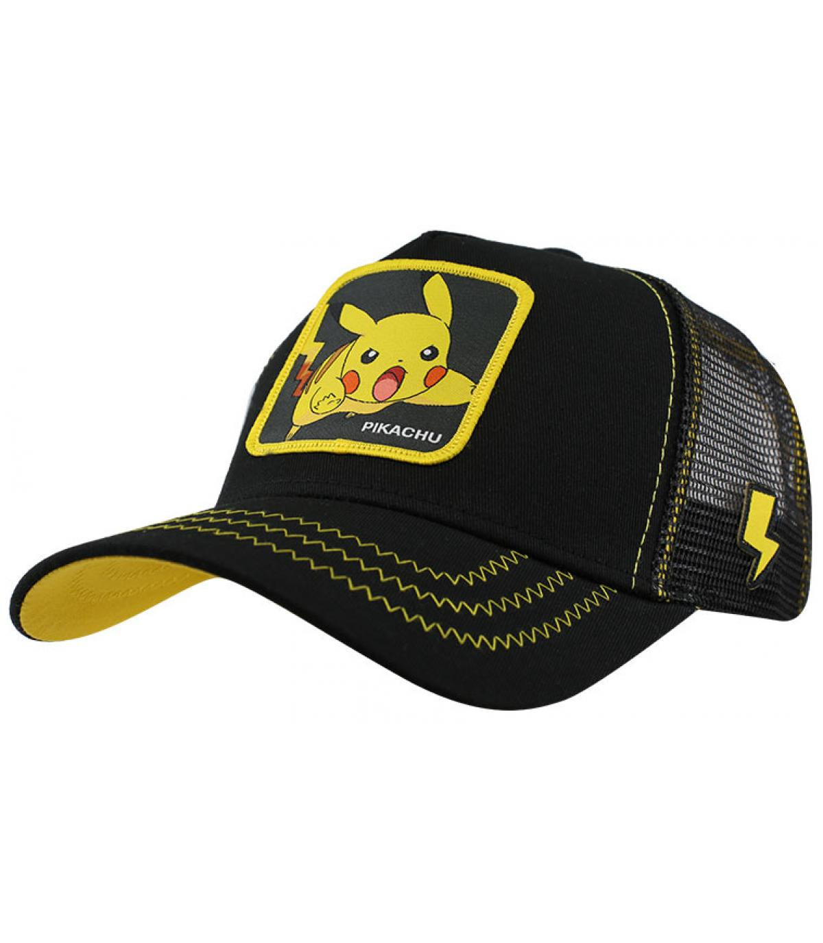 black Pikachu cap