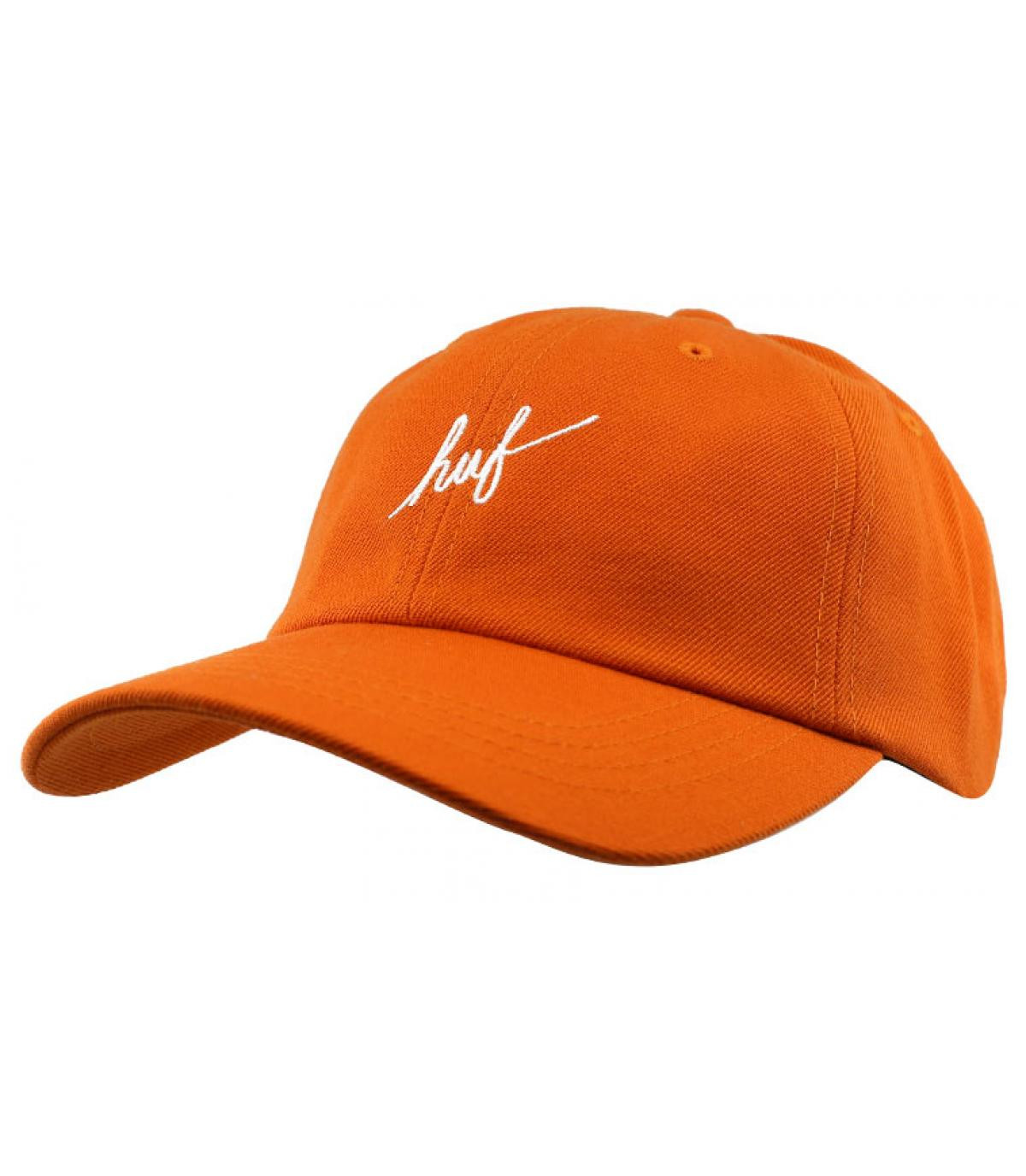 orange Huf cap