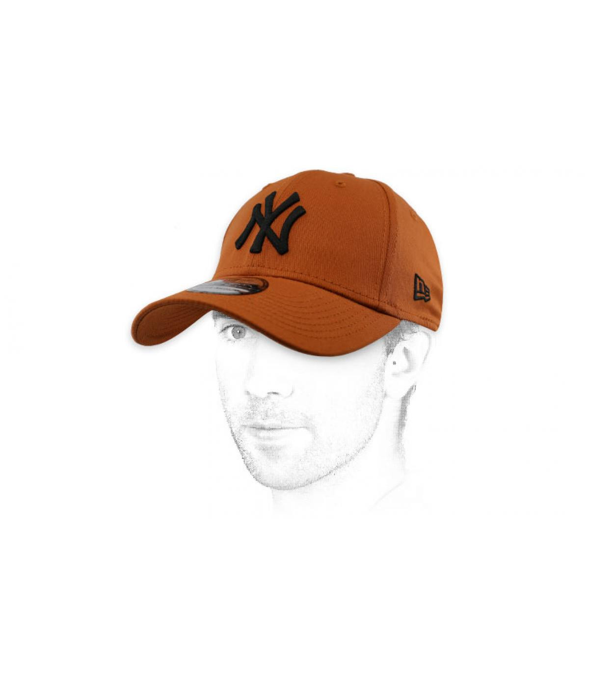 black brown NY cap