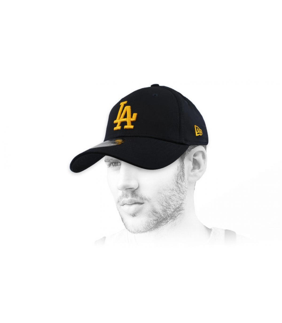 blue gold LA cap