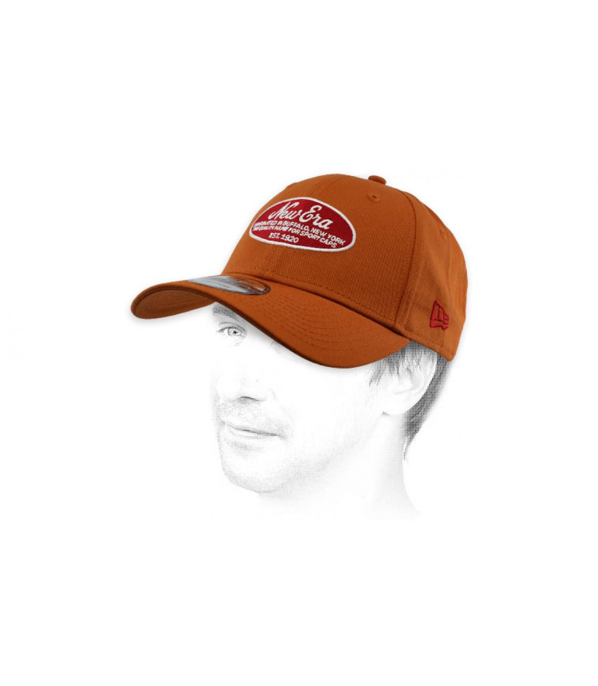 brown New Era cap patch