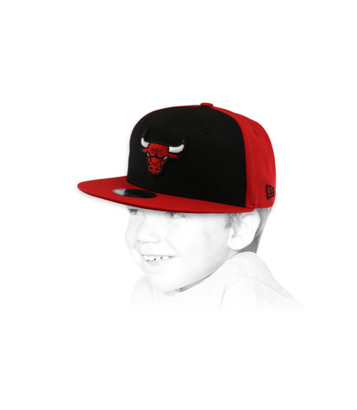 Bulls snapback red black