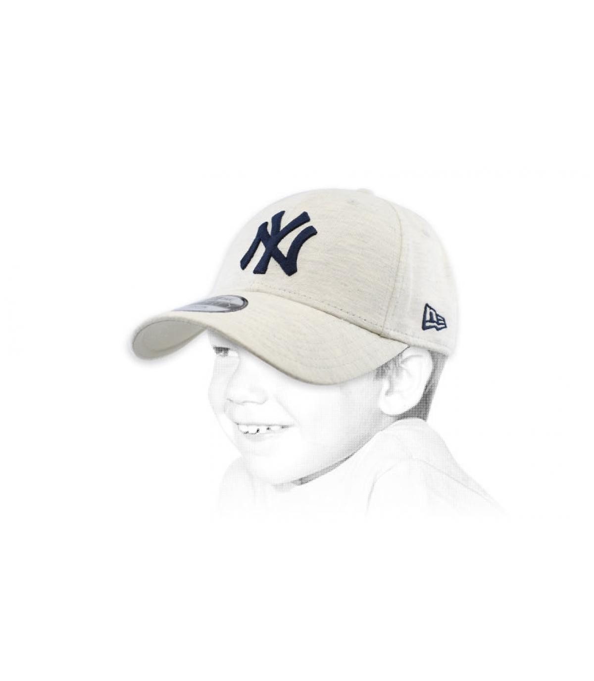 grey NY child cap