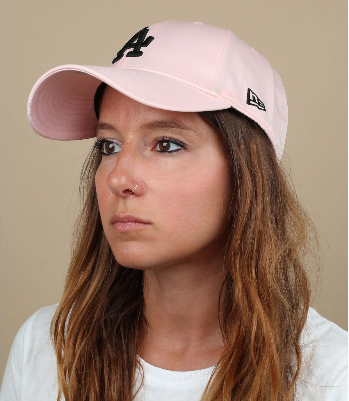 women pink LA cap