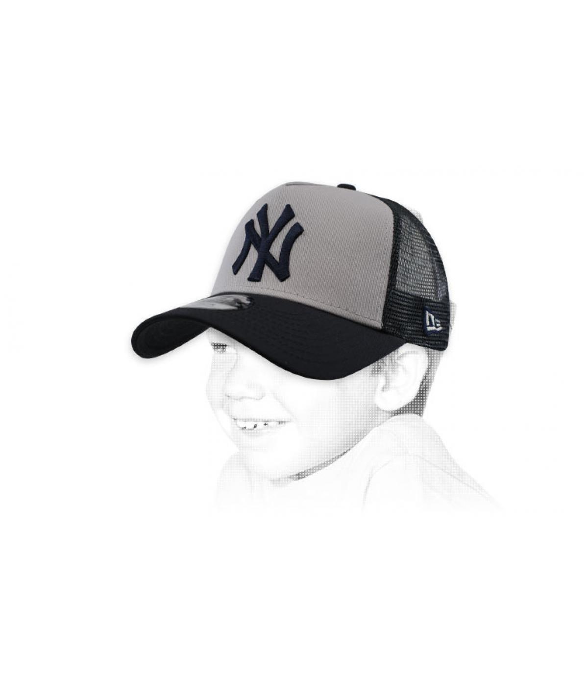white grey NY trucker kids