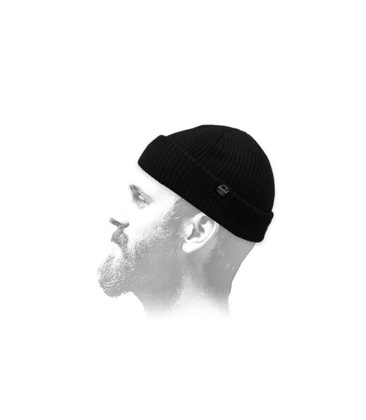 black docker beanie Herschel