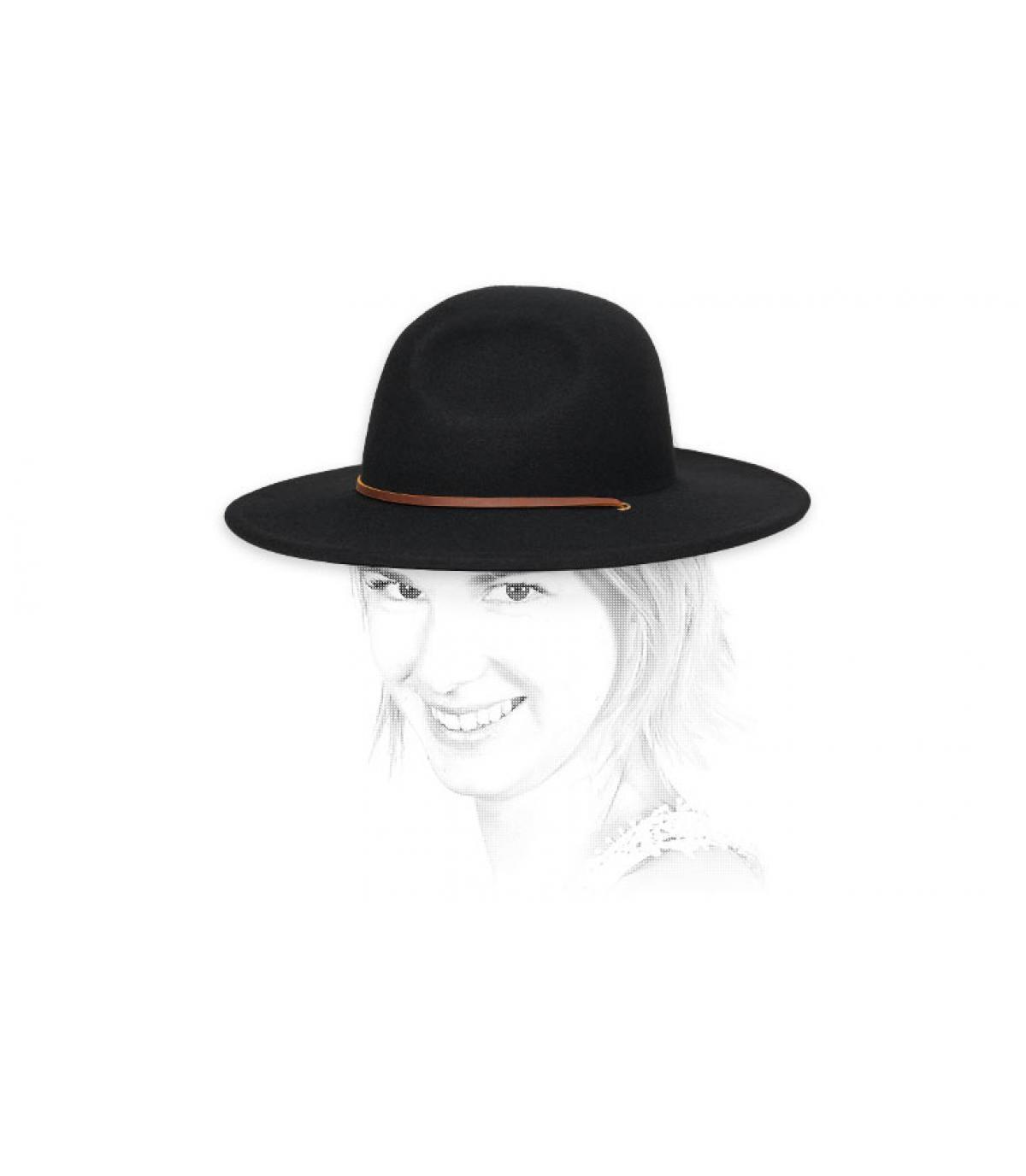black felt hat women