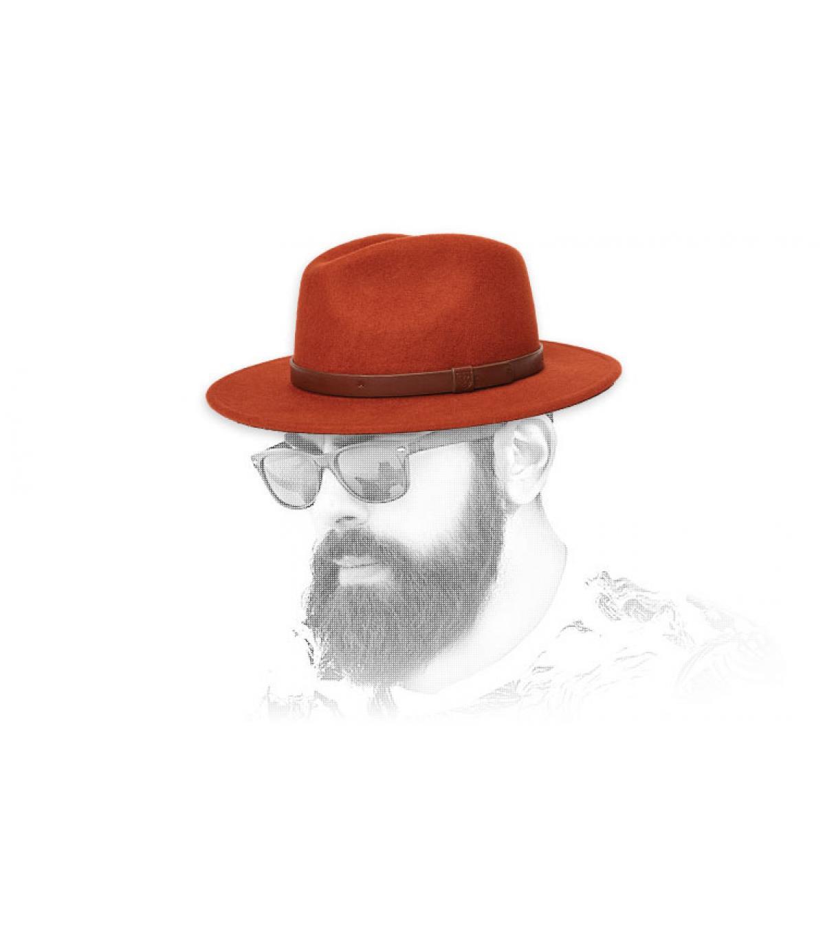 red felt hat