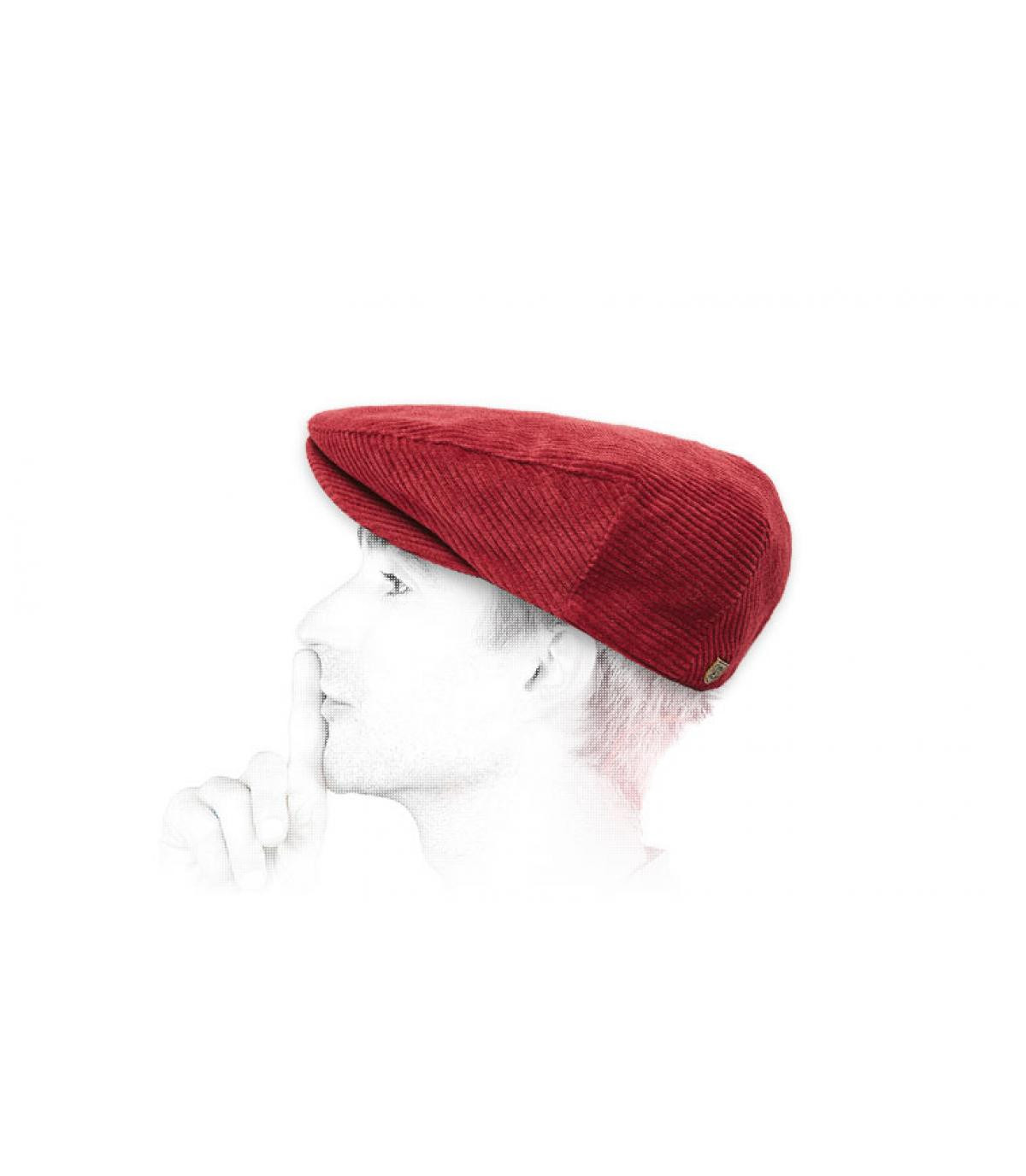 burgundy corduroy flat cap