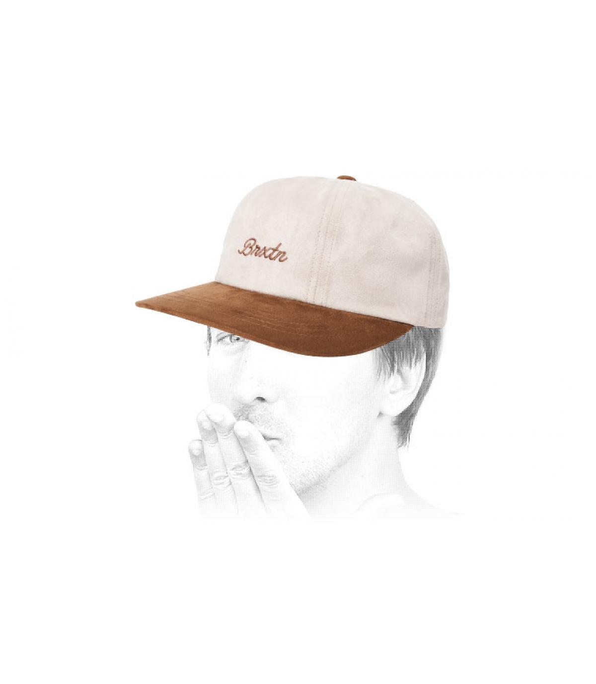 white beige cap