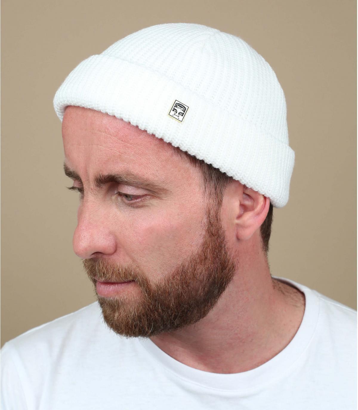 Obey white docker beanie