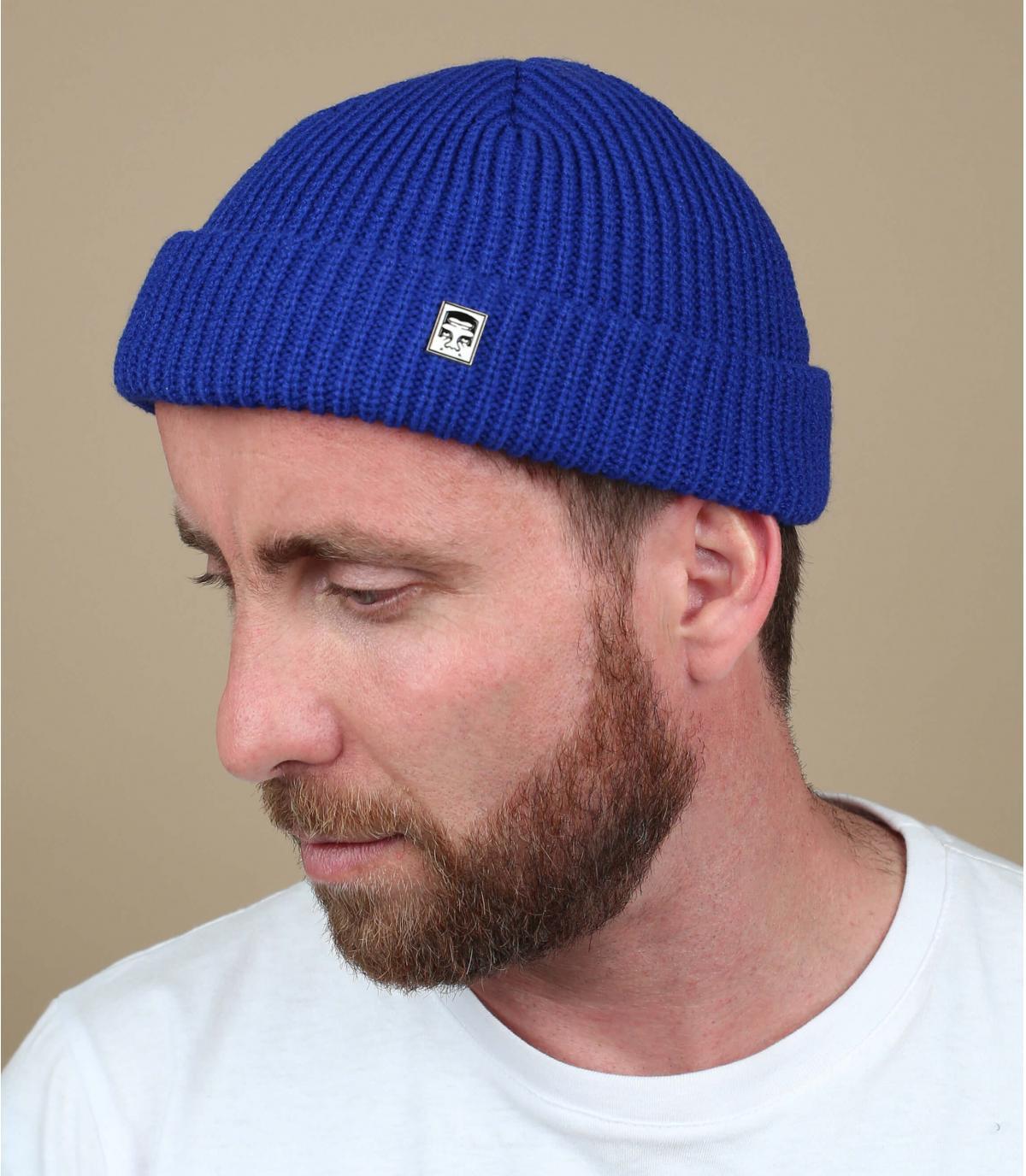 Obey blue docker beanie