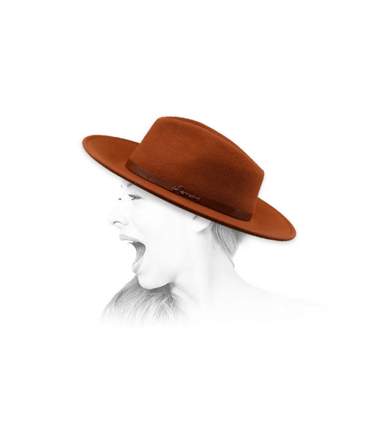 orange fedora Herman