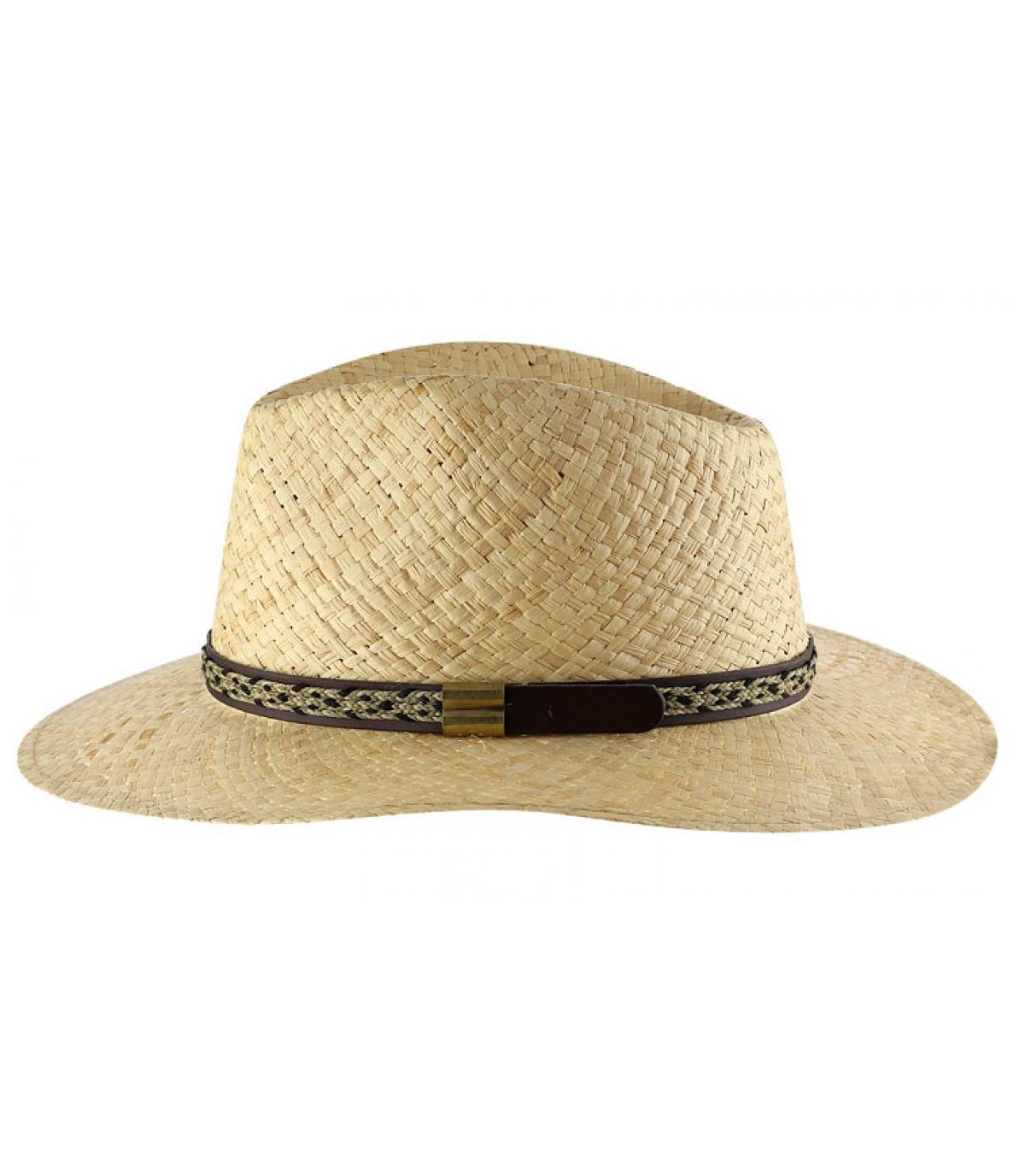 Natural straw hat for men