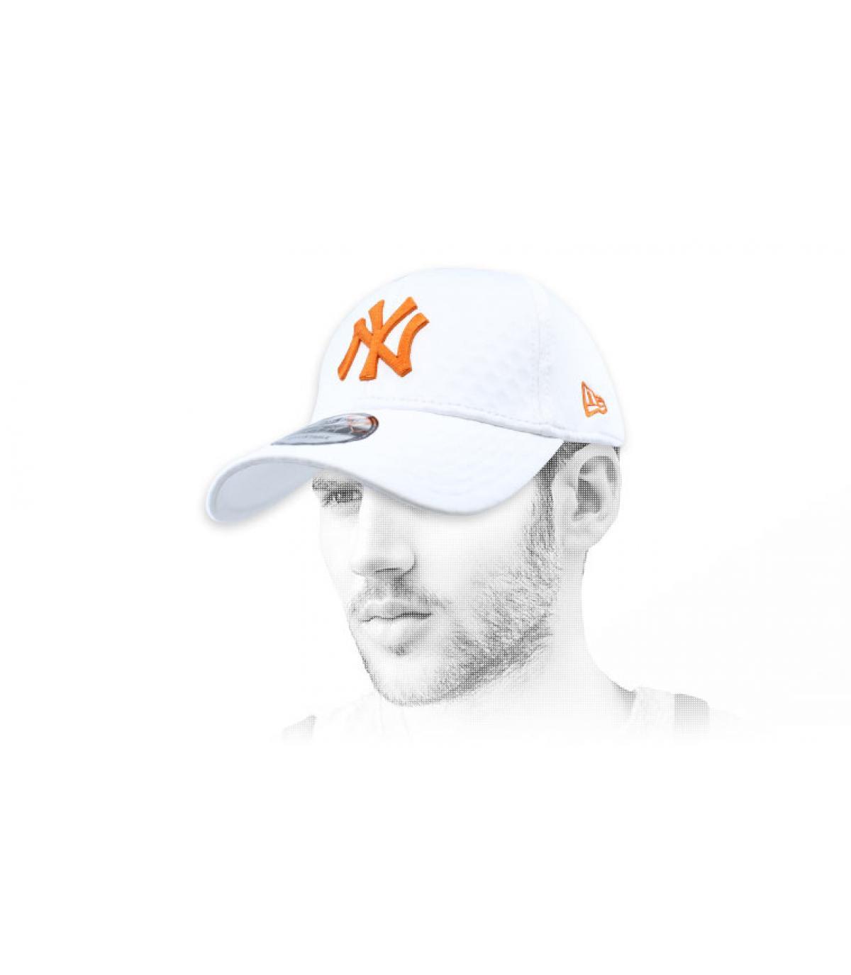 white orange NY cap