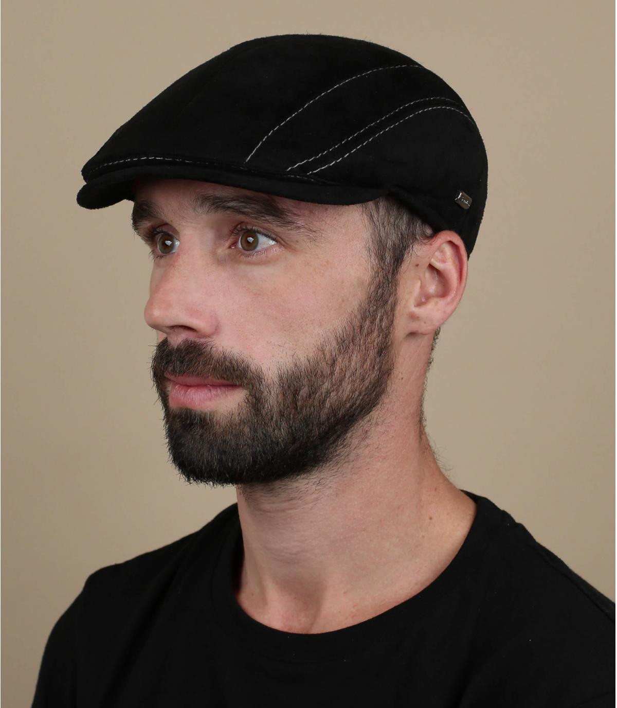 black suede beret