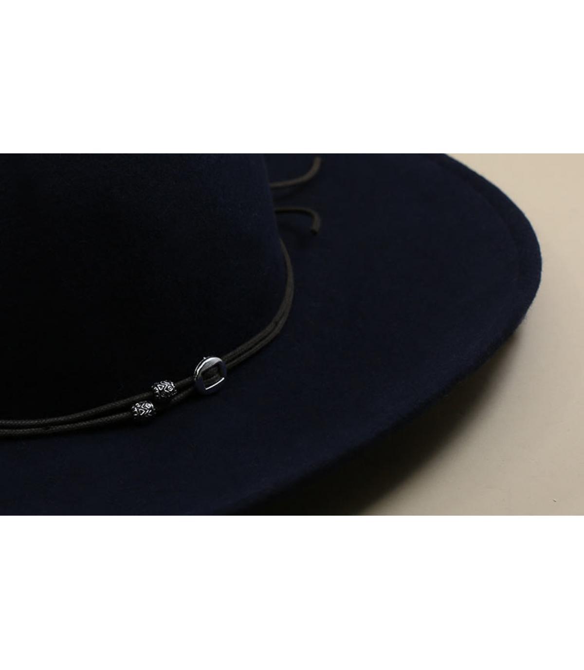 navy blue felt floppy hat