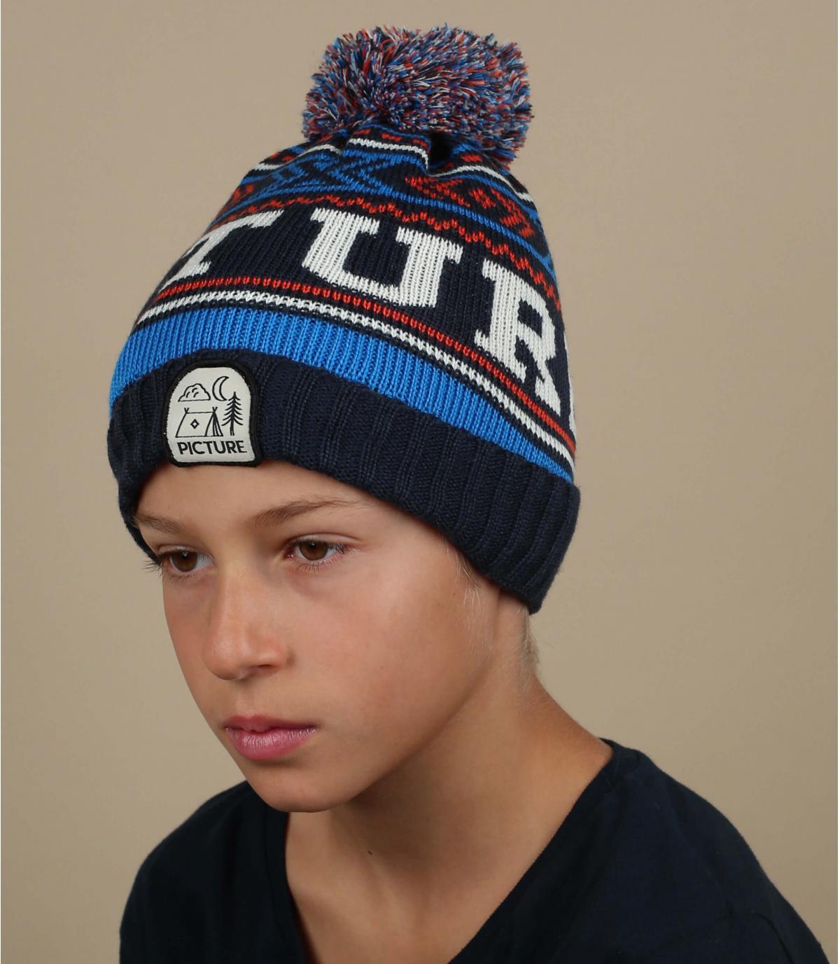 blue kids beanie Picture
