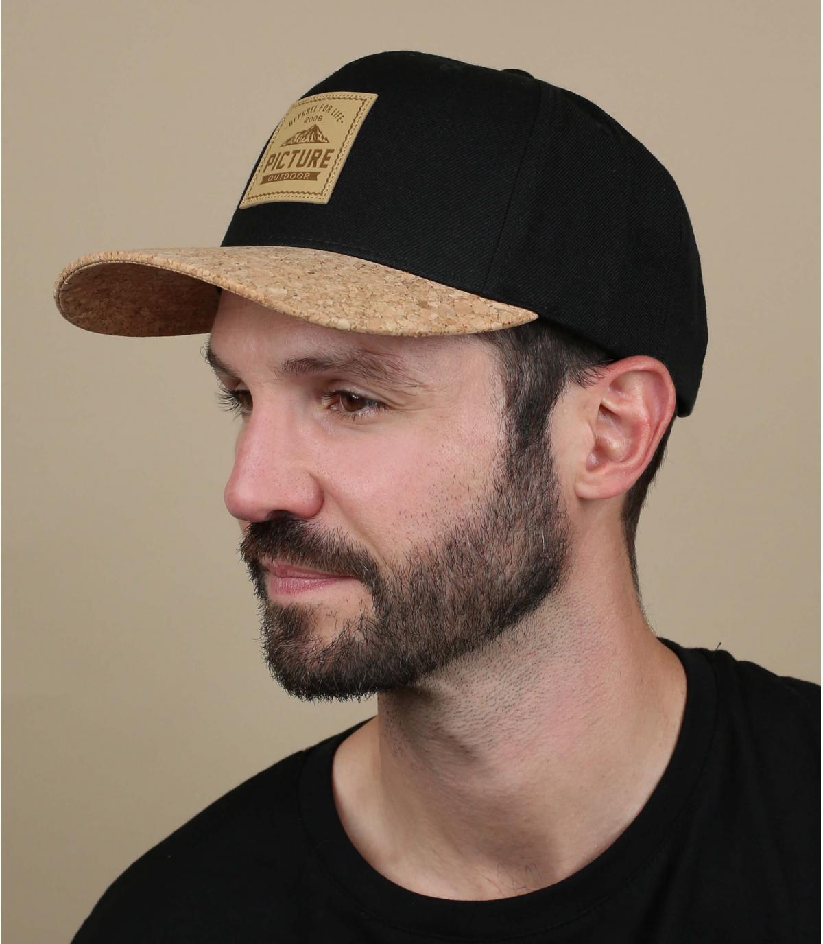 Black cork cap Picture
