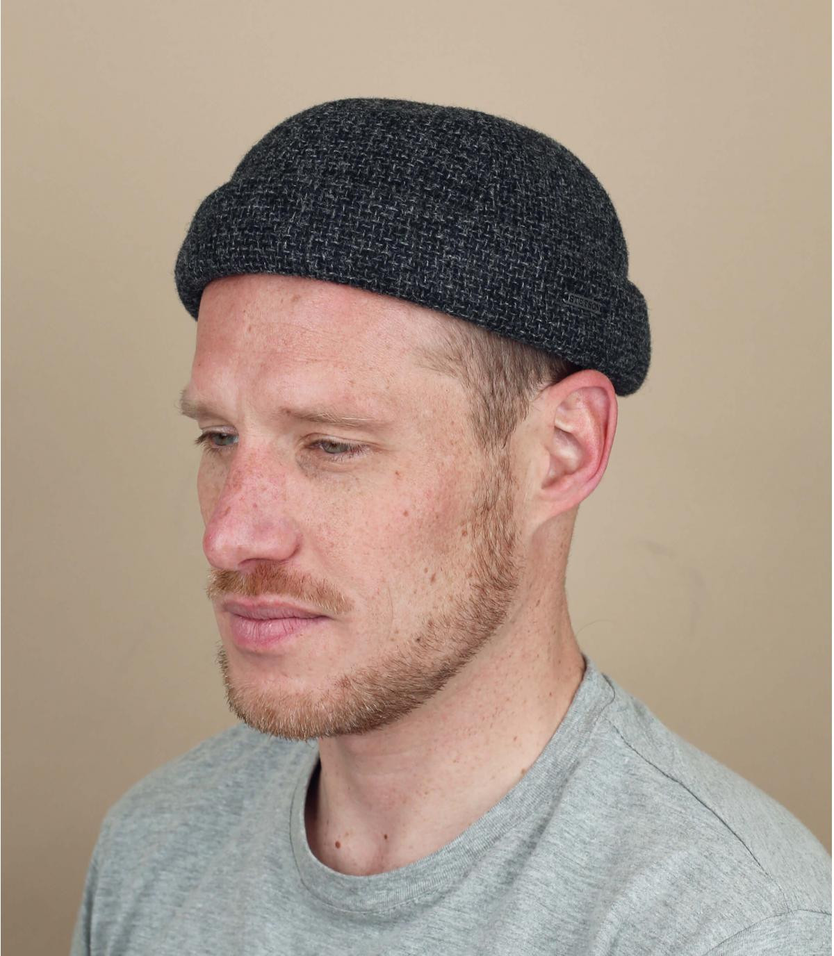 docker beanie grey wool
