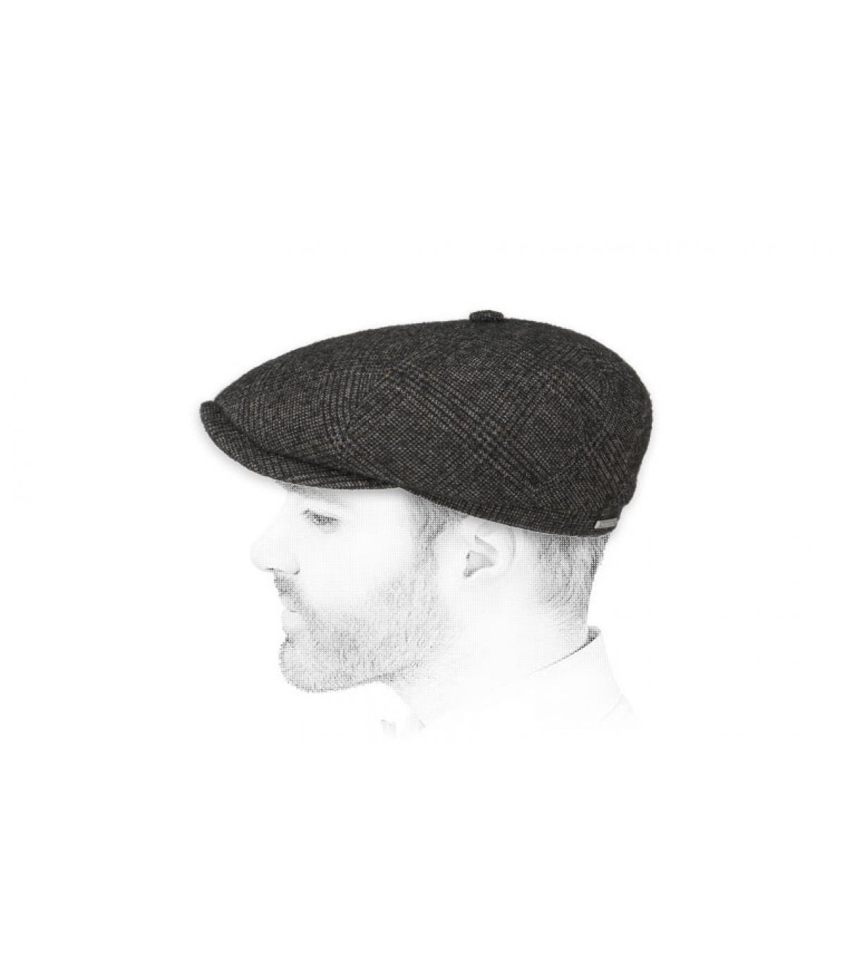 grey newsboy cap squares