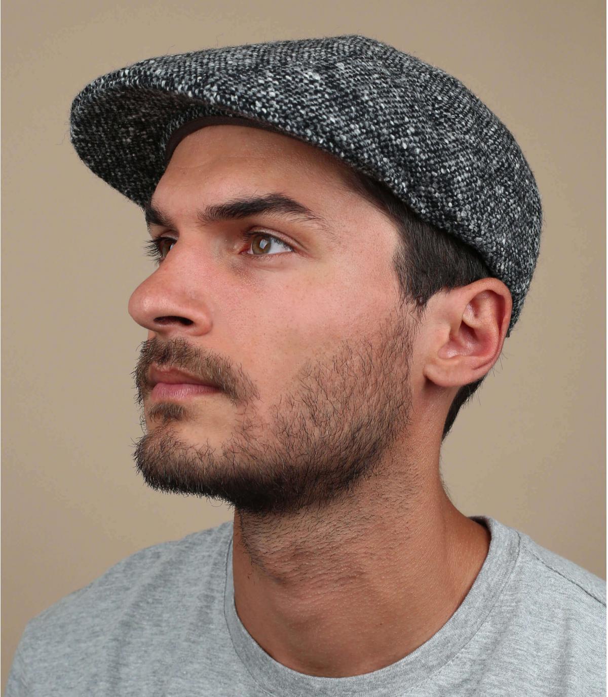 grey wool beret Stetson